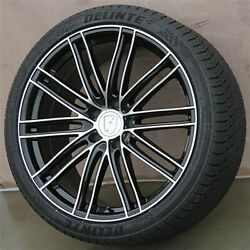 422 22x10/22x11 5x130 Staggered Wheels And Tires Pkg Porsche Cayenne Turbo S