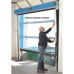 New Spring-loaded Roll-up Screen Door For 8 X 10 Opening-under Header Mount-blue