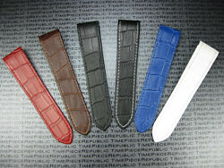 New 23mm Leather Strap Extra Large for Fits CARTIER SANTOS 100 Watch Band XL