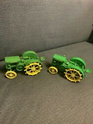 1/16 John Deere Series P Two-cylinder Expo Viii And Regular Toy Tractor Lot Of 2