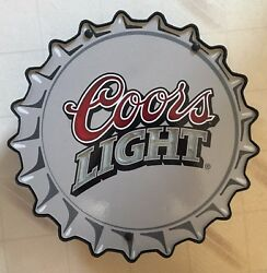 Coors Light Beer Signs 16 Diameter Glass And Plastic Man Cave Last One
