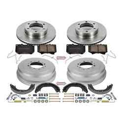 Power Stop Koe15099dk 1-click Daily Driver Pad/rotor/drum And Shoe Kits For Tundra