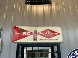 Vintage Royal Crown Rc Cola Metal Sign Gas Oil Soda 54andrdquo X 18andrdquo