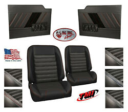 Sport R Pro Classic Seats And Flat Door Panels W/ Pockets For 1953 -55 Ford Truck