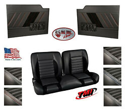 Sport R 55 Bench Seat And Flat Door Panels W/ Pockets For 1953 -55 Ford Truck