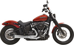 Bassani Road Rage 2-into-1 Exhaust System Chrome Megaphone 18-21 Harley Softail