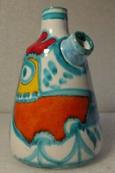 Desimone Italy 08 Rooster Modern Art Pitcher 9 Tall Hand Painted