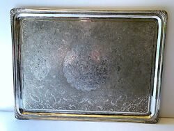 Large Antique Persian Sterling 875 Serving Tray 40 Troy Russian Hallmark