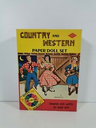 Vintage Country And Western Paper Doll Set Built Rite Toys Uncut