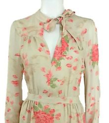 New4000 Valentino Floral Dress Size 8. Pussy Bow. Cocktail / Wedding Dress