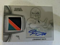 2012 Bowman Sterling Ryan Tannehill Rc Auto 3 Color Printing Plate Patch 1/1