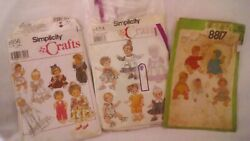 Lot Of 24 Vintageandmoder Doll Clothing Sewing Patterns Mccall/simplicity
