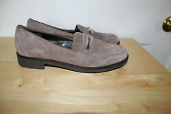 Talbots Very Nice Taupe Sueede Leather Shoes/moccasins Sz 10 B Made In Brazil