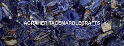 Marble Console Table Top Random Work Sodalite Inaid Arts Occasional Decor H5602