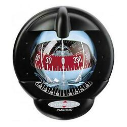 Nautos 64416 - Contest 101 Compass - Vertical Mount Black Compass With Red Card