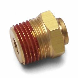 1/4 Push To 1/2 Npt Male Air Fitting Bag Ride Oil Thread Pipe Line Adapter Kit