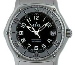 Menandrsquos Ebel 1911 Discovery Black Dial Automatic Watch