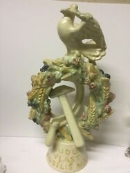 Czech Majolica Statue /hammer And Sickle Build Country To Strengthen Peace Po70