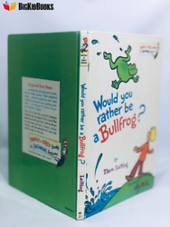 Would You Rather Be A Bullfrog 1975 First Edition 1st Theo Lesieg Rare