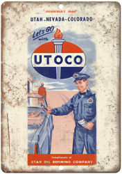 Utoco Vintage Utha Oil Refining Ad 10 X 7 Reproduction Metal Sign T188