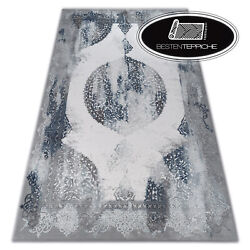 Thick And Dense Woven Acrylic Rugs Valencia Blue Grey Best Quality
