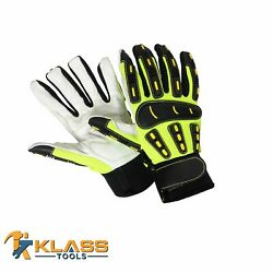 Mechanic Gloves W /goat Leather Palm 36 Pairs By Klasstools