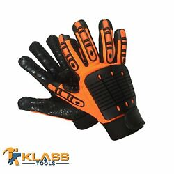 Anti-vibration Mechanic Gloves W/ Synthetic Leather 60 Pairs By Klasstools