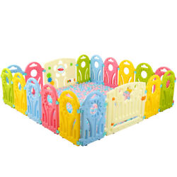 Baby Safety Playpen Kids Home Portable Baby Playpen Play Yard Fence Sun Panel