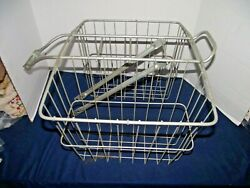 Vintage Wire Bicycle Newspaper/delivery Saddle Baskets
