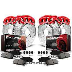 Power Stop Kc529 Z23 Evolution 1-click Brake Kit W/calipers And Hoses For Audi A6