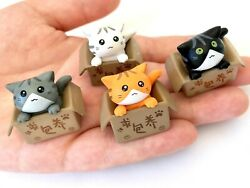 ADOPT A CAT FIGURINE TOY 4 Complete Set No Box