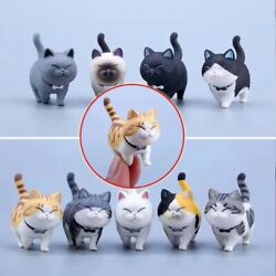 9 CAT FIGURINE TOY 9 Complete Set No Box