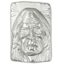 3 Troy Ounce .999 Fine Silver Hand Poured Bison Bullion Premium Bar Wise Indian