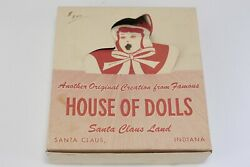 Santa Claus Land House Of Dolls Celluloid Doll Closing Eyes Top Hat W Box