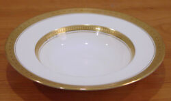 Discontinued Royal Worcester Coronet Pattern Rimmed Soup Bowl 8 Black Mark New