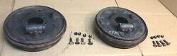 1964 1/2 1965 1966 Mustang 6 Cyl 4 Lug Landrh Rear Brake Drums And Backing Plates