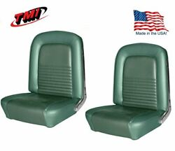 1967 Mustang Convertible Front And Rear Seat Upholstery - Turquoisel Made By Tmi