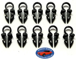Ford 1/4 Engine Headlight Dash Horn Wiring Harness Hose Clamp Clips 10pcs So