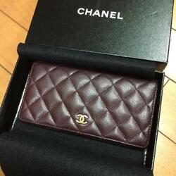 Chanel Wallet Purse Coco Mark Leather Matrasse m18693453426 Purple From Japan