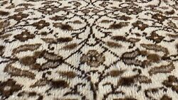 Pre-1900and039s Antique Wool Pile Muted Wool Colored Ivory Hereke Rug 7andrsquo7andrdquox11andrsquo10andrdquo