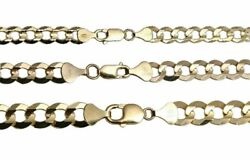 Authentic 10k Solid Yellow Gold Cuban Link Chain Necklace 7mm-10mm Size 20-30