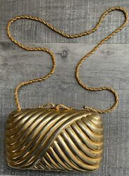 Vintager Purse Made in Italy Gold Evening Box Clutch Handbag from Nordstrom $79.99