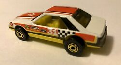Hot Wheels 1984 Hot Ones White Turbo Mustang.yellow Interior.transition Piece