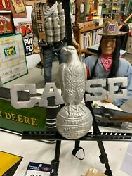 Rare Vintage Cast Case Eagle Farm Machinery Emblem Sign Gas Oil Soda Cola