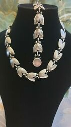 Authentic Gorgeous Set By Georg Jensen Tulip Links Necklace 66 And Bracelet 93