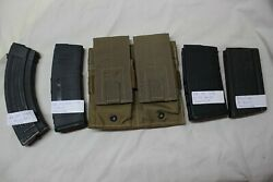 4 Us Military Issue Usmc Rifle Double Magazine Pouch Coyote Brown 4 7.62x51 308