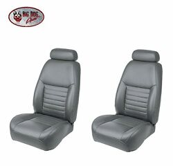 Medium Graphite Front/rear Bucket Seat Upholstery For 1999 Mustang Gt Coupe