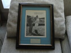 Vintage Autograph + Photo Eddie Arcaro And Sunny Jim Fitzsimmons Matted/framed