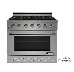 Nxr Sc3611lp 36 5.5 Cu.ft. Pro-style Propane Gas Range With Convection Oven