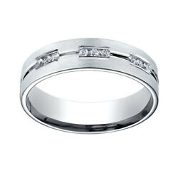 0.36 Ct Diamond Sterling Silver Gold 6mm Comfort-fit 18-stone Eternity Ring Sz-6